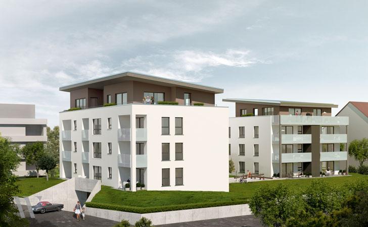 Neubau 2 Mehrfamilienhäuser mit Tiefgarage